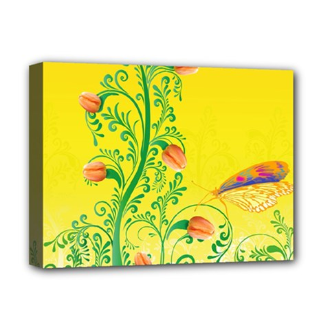 Whimsical Tulips Deluxe Canvas 16  x 12  (Framed)