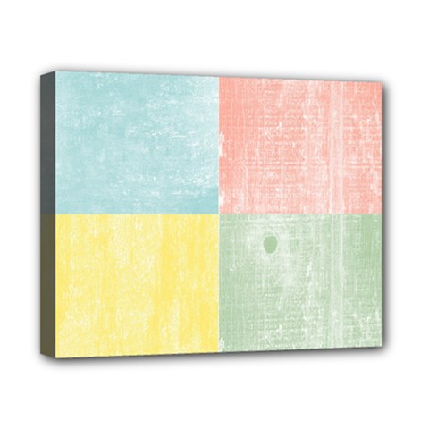 Pastel Textured Squares Canvas 10  x 8  (Framed)