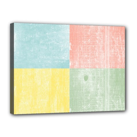 Pastel Textured Squares Canvas 16  x 12  (Framed)