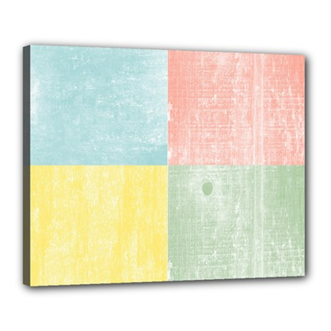 Pastel Textured Squares Canvas 20  x 16  (Framed)