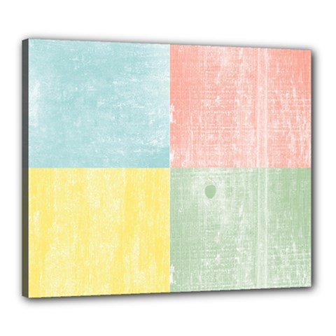 Pastel Textured Squares Canvas 24  x 20  (Framed)