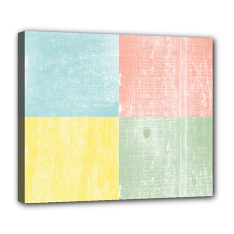 Pastel Textured Squares Deluxe Canvas 24  x 20  (Framed)