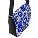 Trippy Blue Swirls Flap Closure Messenger Bag (Small) View2