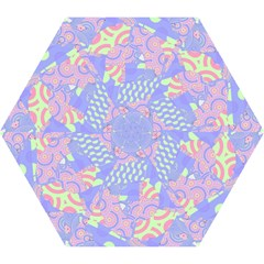 Girls Bright Pastel Summer Design Blue Pink Green Mini Folding Umbrella