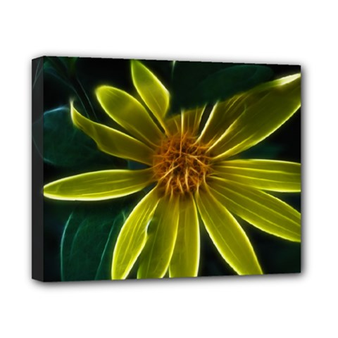 Yellow Wildflower Abstract Canvas 10  x 8  (Framed)