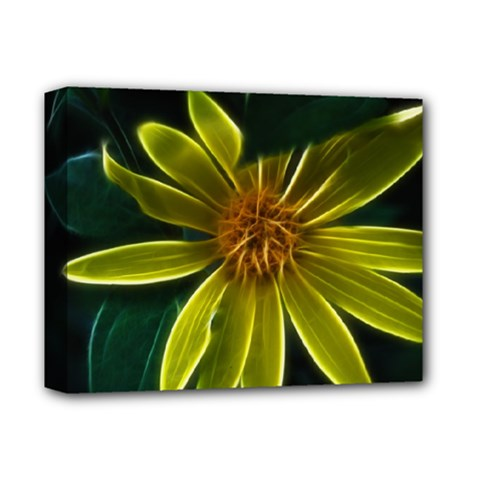 Yellow Wildflower Abstract Deluxe Canvas 14  X 11  (framed)