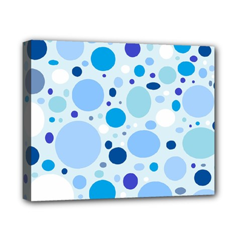 Bubbly Blues Canvas 10  x 8  (Framed)