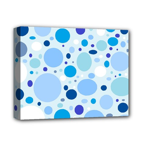 Bubbly Blues Deluxe Canvas 14  X 11  (framed)