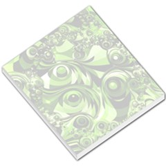Retro Green Abstract Small Memo Pad