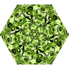 Retro Green Abstract Mini Folding Umbrella