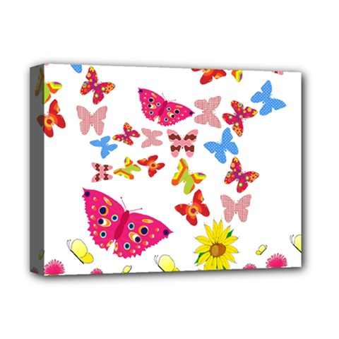 Butterfly Beauty Deluxe Canvas 16  x 12  (Framed)