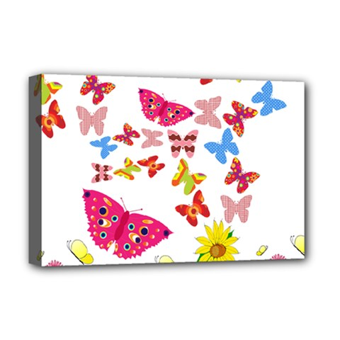 Butterfly Beauty Deluxe Canvas 18  X 12  (framed)