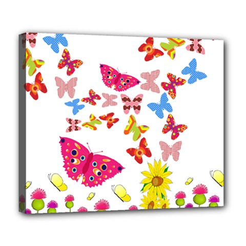 Butterfly Beauty Deluxe Canvas 24  x 20  (Framed)