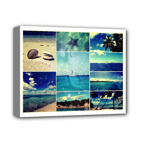 Starry Starry Caribbean Collage Deluxe Canvas 14  x 11  (Framed)