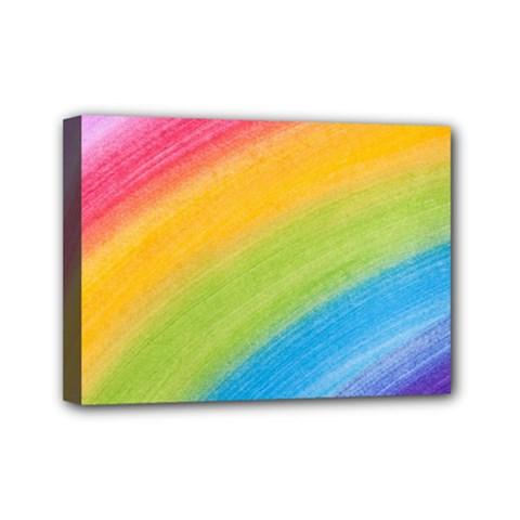 Acrylic Rainbow Mini Canvas 7  x 5  (Framed)