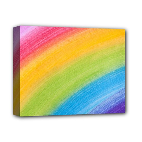 Acrylic Rainbow Deluxe Canvas 14  X 11  (framed)