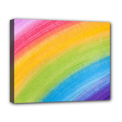 Acrylic Rainbow Deluxe Canvas 20  x 16  (Framed)