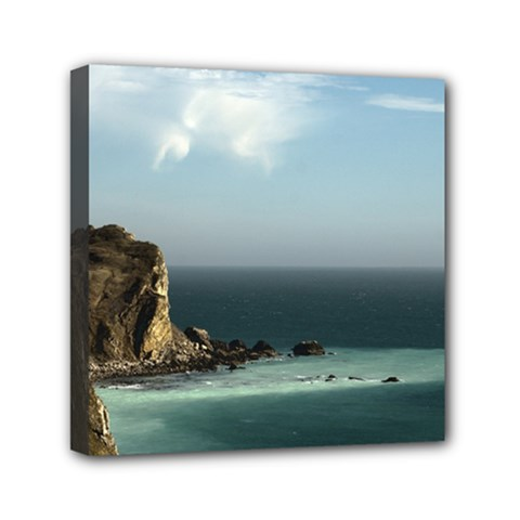 Dramatic Seaside Picture Mini Canvas 6  x 6  (Stretched)