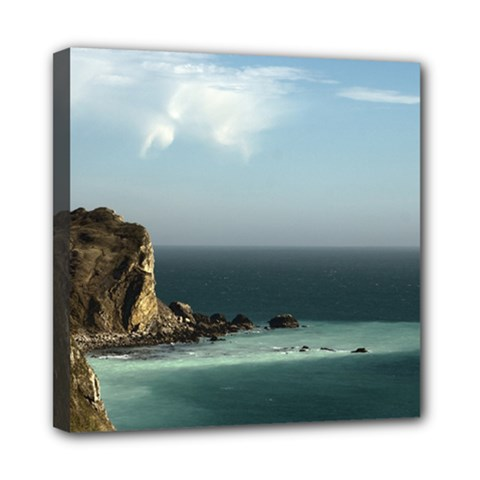 Dramatic Seaside Picture Mini Canvas 8  X 8  (stretched)