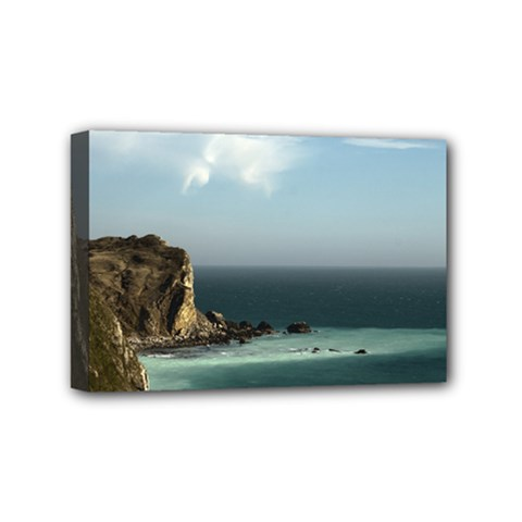 Dramatic Seaside Picture Mini Canvas 6  x 4  (Stretched)