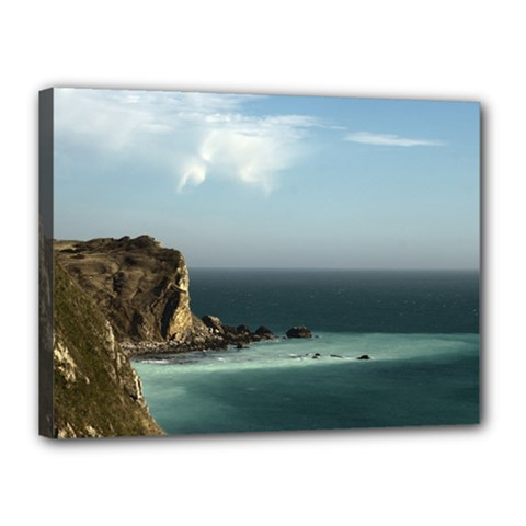 Dramatic Seaside Picture Canvas 16  X 12  (stretched)