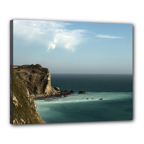 Dramatic Seaside Picture Canvas 20  x 16  (Stretched)