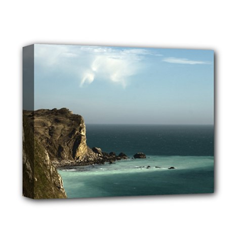 Dramatic Seaside Picture Deluxe Canvas 14  X 11  (stretched)