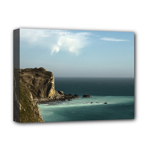 Dramatic Seaside Picture Deluxe Canvas 16  x 12  (Stretched)