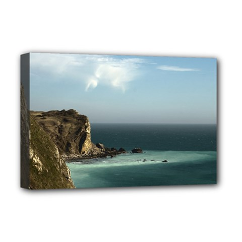 Dramatic Seaside Picture Deluxe Canvas 18  x 12  (Stretched)