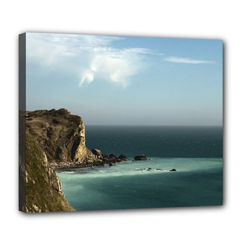 Dramatic Seaside Picture Deluxe Canvas 24  x 20  (Stretched)