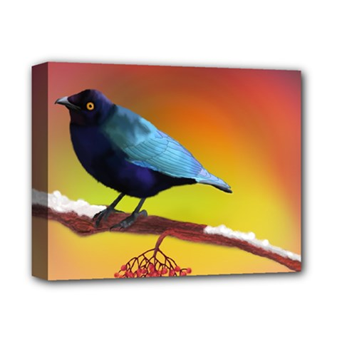 The Blue Bird Deluxe Canvas 14  x 11  (Stretched)