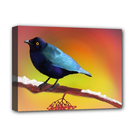 The Blue Bird Deluxe Canvas 16  x 12  (Stretched)
