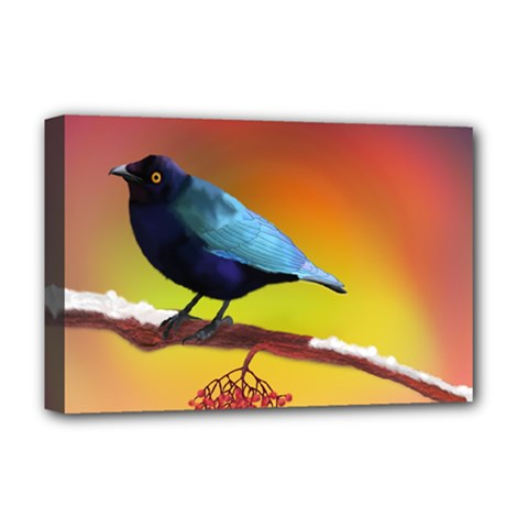 The Blue Bird Deluxe Canvas 18  X 12  (stretched)