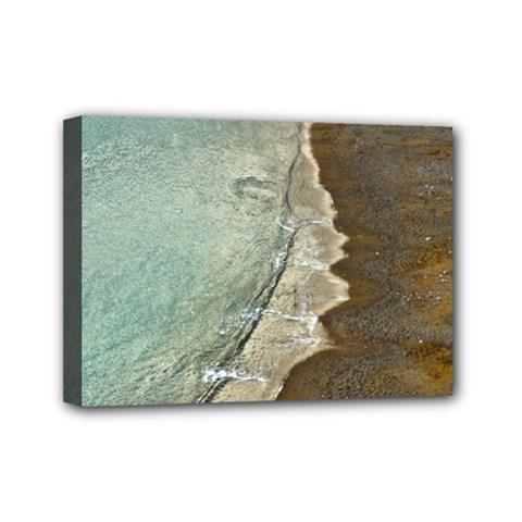 Wawe2 Mini Canvas 7  X 5  (framed)
