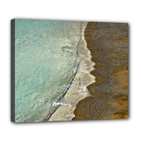 Wawe2 Deluxe Canvas 24  x 20  (Framed)