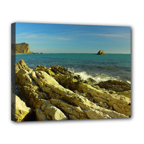 2014 03 15 Durdle Door 261 Canvas 14  x 11  (Framed)