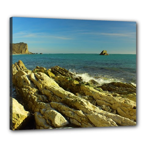 2014 03 15 Durdle Door 261 Canvas 24  X 20  (framed)