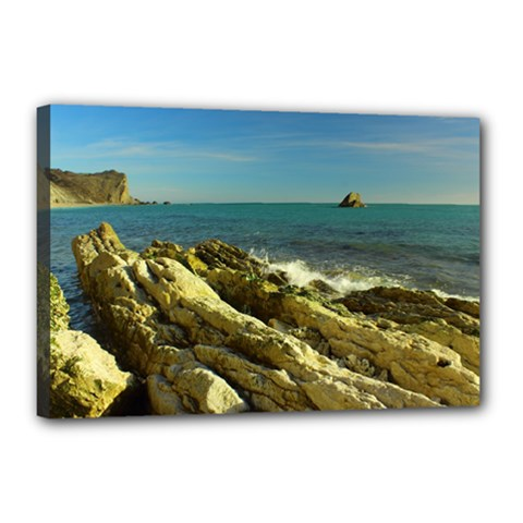 2014 03 15 Durdle Door 261 Canvas 18  x 12  (Framed)