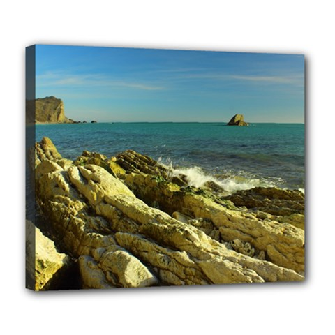 2014 03 15 Durdle Door 261 Deluxe Canvas 24  x 20  (Framed)