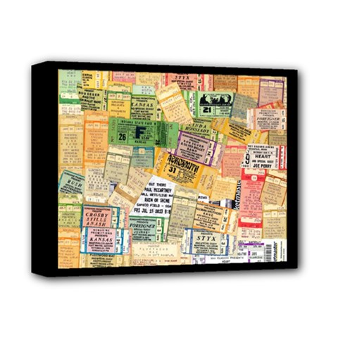 Retro Concert Tickets Deluxe Canvas 14  x 11  (Framed)