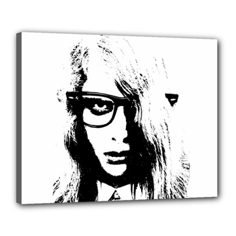 Hipster Zombie Girl Canvas 20  X 16  (framed)
