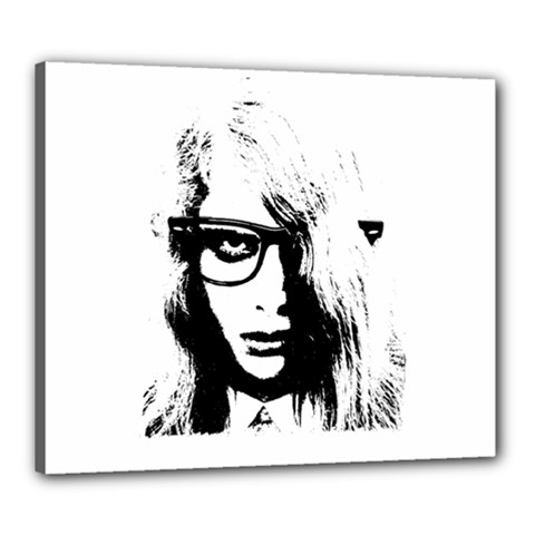 Hipster Zombie Girl Canvas 24  x 20  (Framed)