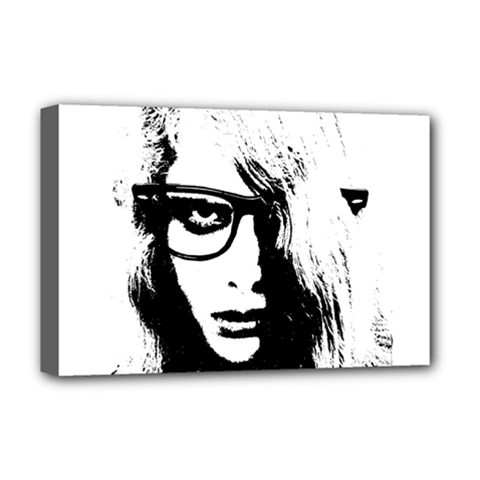 Hipster Zombie Girl Deluxe Canvas 18  x 12  (Framed)