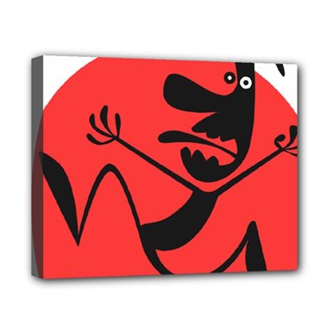 Running Man Canvas 10  x 8  (Framed)