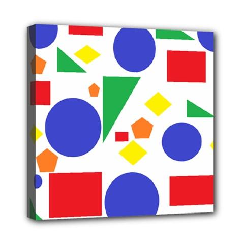 Random Geometrics Mini Canvas 8  x 8  (Framed)