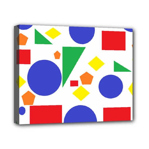 Random Geometrics Canvas 10  X 8  (framed)