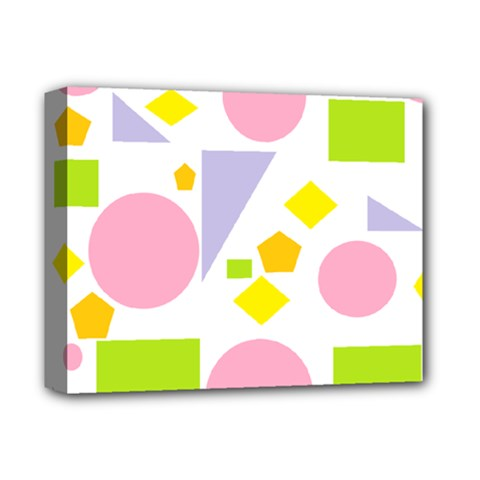 Spring Geometrics Deluxe Canvas 14  x 11  (Framed)