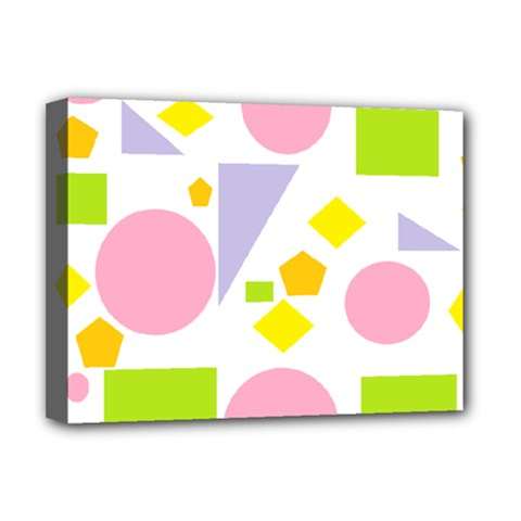 Spring Geometrics Deluxe Canvas 16  x 12  (Framed)