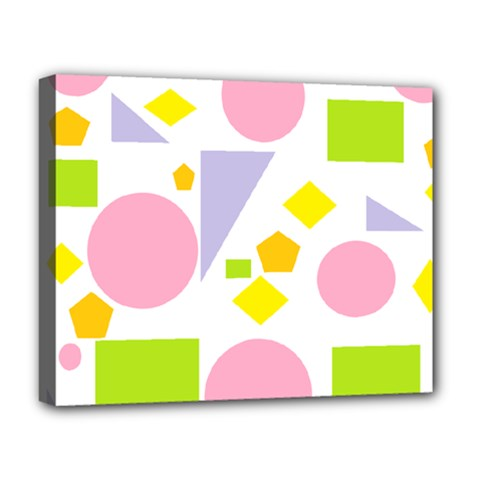 Spring Geometrics Deluxe Canvas 20  x 16  (Framed)