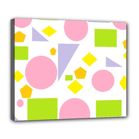 Spring Geometrics Deluxe Canvas 24  x 20  (Framed)
